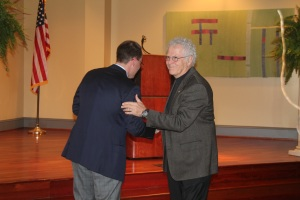 It was such an honor to be introduced by Homer Hickam.