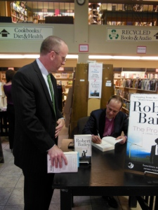 Signing a book for Terry
