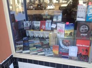 Look who's in the display window of world famous Square Books!