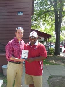 Me with Huntsville native, Chris Anderson, tailback on the 1992 national champions