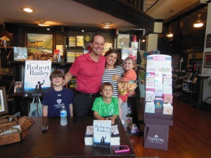 The whole family at ColdWater Books on May 3