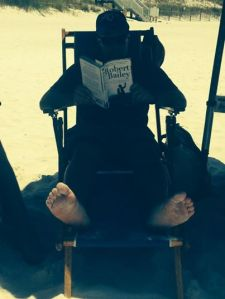 There is no sweeter sight than seeing someone reading your book on the beach after a great signing!