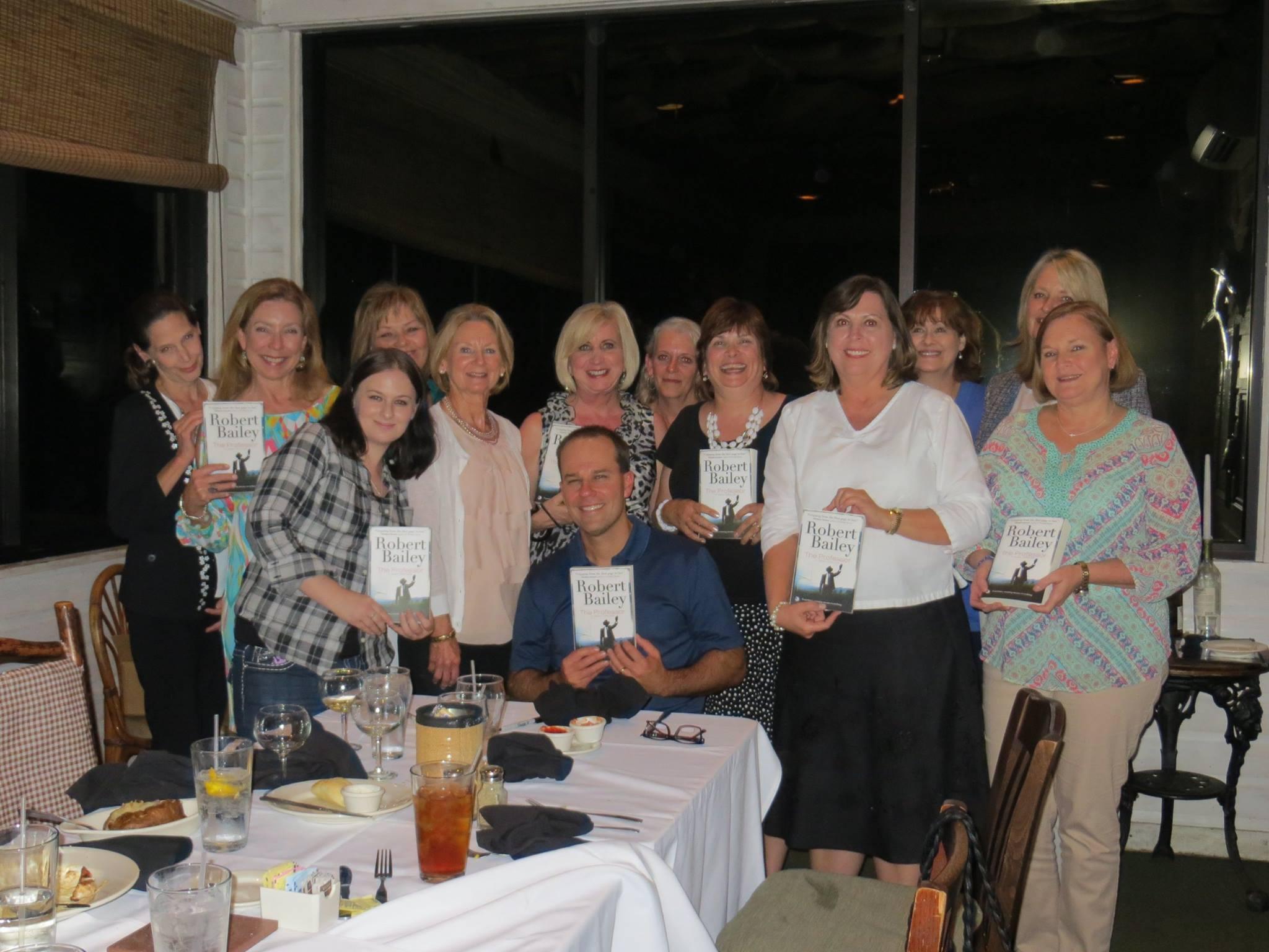 Book club fun robert bailey books for Felix fish camp menu