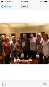 I was a suprise guest at my friend, Leslie Comer's, book club!