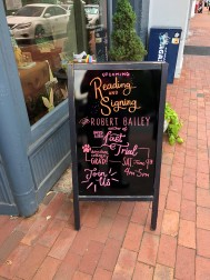 Sign at bookstore
